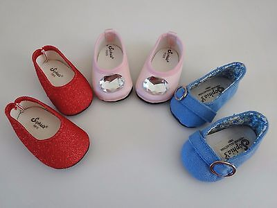 """NEW-DOLL SHOES - Lot #242 - 3 Pairs fit 18"""" Doll such as American Girl Dolls"""