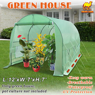 12'X7'X7' Hot Green House Large Walk-In Greenhouse Outdoor Plant Gardening