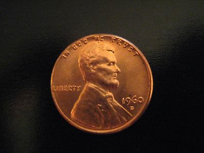 1960-D/D 1C Small/Large Date RD Lincoln Cent
