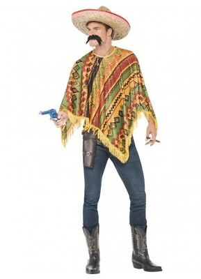 Mexican Poncho Instant Costume Kit