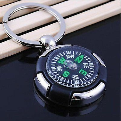 Precise Camping Outdoor Hike Survival Compass Pendant Keychain Key Ring Keyfob