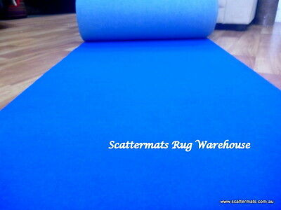 Blue Expo Event Carpet Mid Range Runner in 1m x 5m Increment Lengths