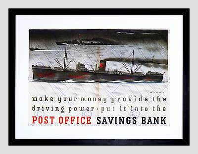 War Savings Post Office Second World Uk Vintage Retro Advert Art Print B12X1823