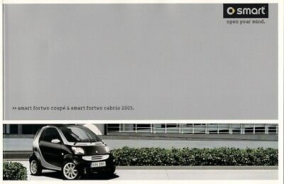 Smart ForTwo Coupe & Cabriolet 2005 UK Market Brochure Pure Pulse Passion Brabus