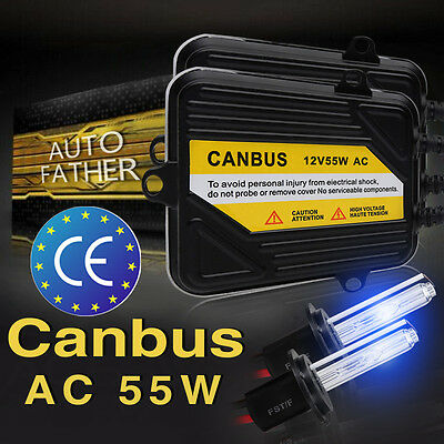 H7 H4 AC 55W CANBUS ERROR FREE HID SLIM Ballasts Headlights H1 H3 H8 9005 9006