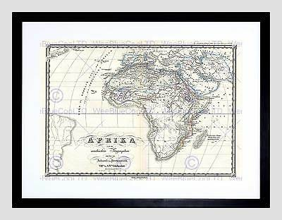 1855 Spruner Map Africa From The 8Th To The 14Th Century Framed Print B12X2193
