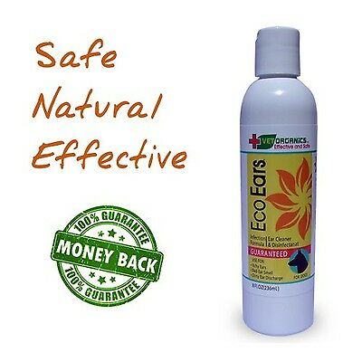 EcoEars Dog Ear Cleaner. Infection Formula. 8 oz. Itch head shaking & smell g...
