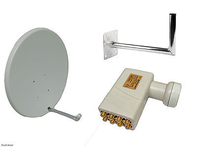 90CM Satellite Dish With Wall Mount & Octo LNB