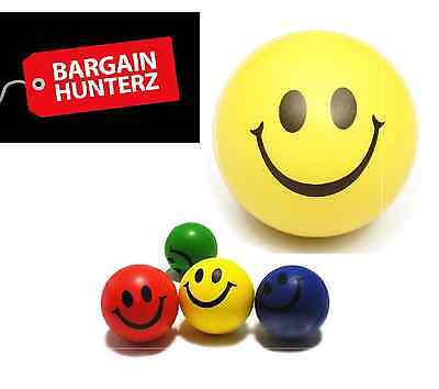 Smiley Face Anti Stress Reliever Ball Yellow Stressball ADHD Autism Mood Squeez