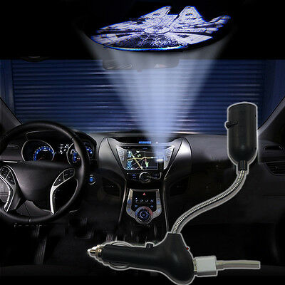 Star Wars Millennium Falcon Car USB charger roof LED logo projector decor light