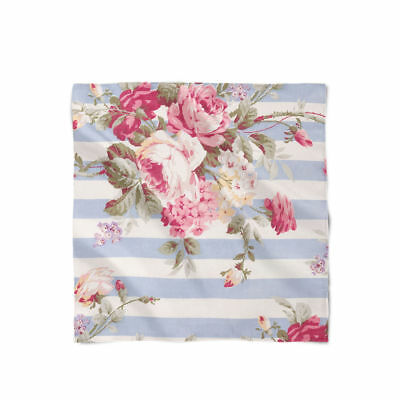 Antique Striped Floral Satin Style Scarf - Bandana in 3 sizes