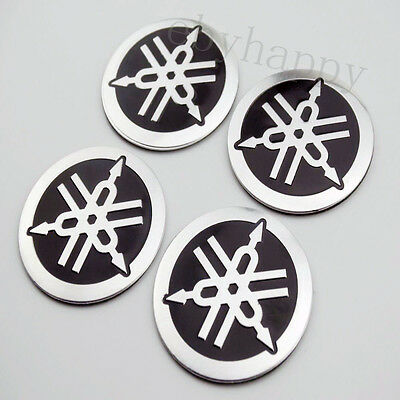 Round Tuning Fork Fuel Gas Tank Emblem Badge Decal Sticker For YAMAHA Motorcycle
