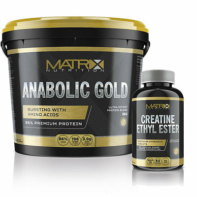 Anabolic Gold 5Kg Muscle Building Stack - Matrix Nutrition  High Protein Content