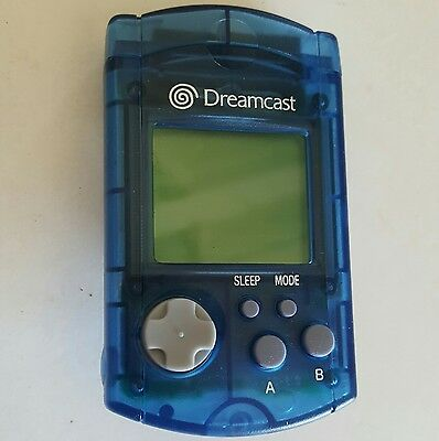 New Official Oem Sega Clear Blue Dreamcast Visual Lcd Memory Unit Card Loose