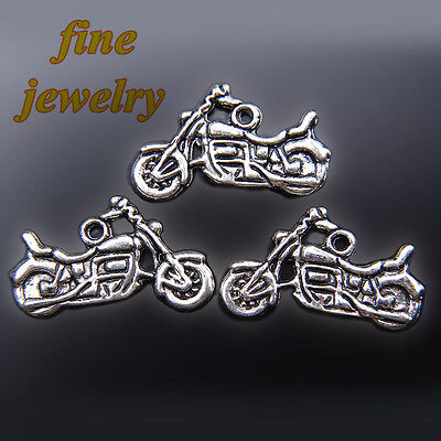 10Pieces 24mm Harley Davidson Pendant Tibetan Silver Charms DIY Jewelry C7444