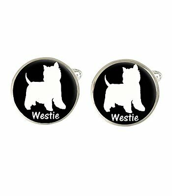Westie Dog Mens Cufflinks Ideal Wedding Birthday Fathers Day Gift C398