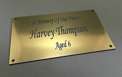 BP62 IN LOVING MEMORY OF ABS Engraved Brass Memorial Plaque Plate Grave Marker