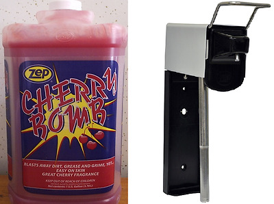 Zep Cherry Bomb Hand Cleaner 4 Gallon Case + Zep Wall Dispenser, Free Shipping