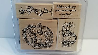STAMPIN' UP WOODLAND COTTAGE Rubber Stamps