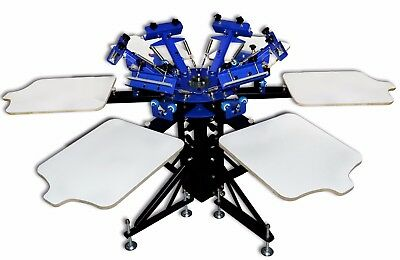 6 Color 6 Station Double wheel Screen Printing Press Equipment Machine Printer