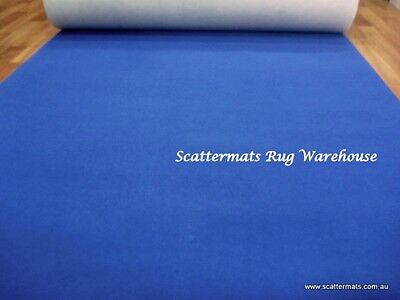 Blue Expo Event Carpet Budget Runner in 1m x 5m Increment Lengths