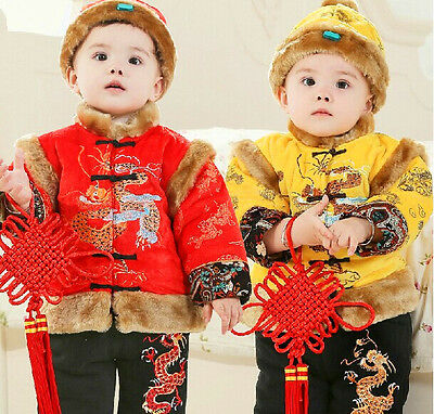China's Tang fitted  (Chinese dragon,Yellow and red,)