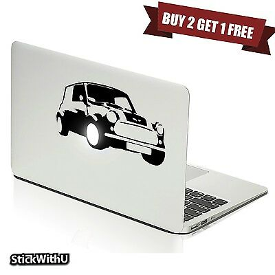 Macbook Air Pro Vinyl Skin Sticker Decal Mini Cooper Glowing Small Car Race m348