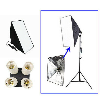 Lighting kit Softbox 50*70cm + 4in1 E27 Lamp Head Holder for Speedlite Studio