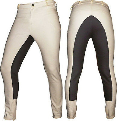 Ivory Dressage Horse Riding Pants Full Seat Breeches Unisex Pair for Competition