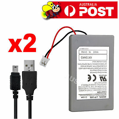 PS3 Wireless Controller Battery 2x Playstation 3 Li-ion Battery 4.2V 1800mAh