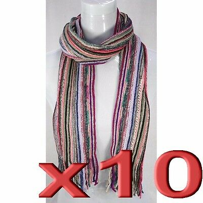 10pc Wholesale Bulk Lots Woolen Women Lady Girl Winter Scarves Mixed Color Scarf