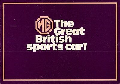 MG 1971-72 UK Market Sales Brochure Midget MGB Roadster GT