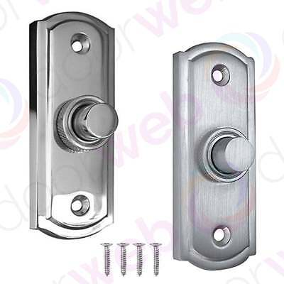 DOOR BELL PUSH BUTTON Sloane Jedo Push Wired Traditional Polished / Satin Chrome