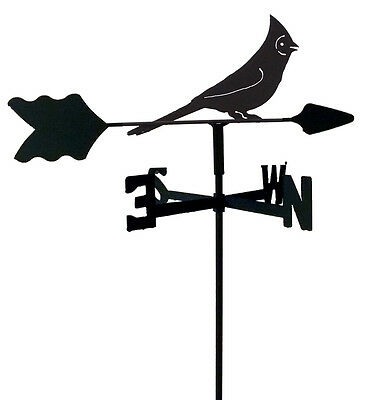 Cardinal Garden Style Weathervane Black Wrought Iron Look Made In Usa Tls1065In