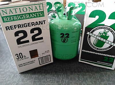 R-22  REFRIGERANT   30lbs. NEW IN BOX / SEALED  R22 30 lb  - Same Day Shipping!