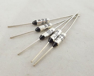 5pcs New 10A AC 250V Microtemp Thermal Fuse 128°C 128 Degree TF Cutoff Cut-off