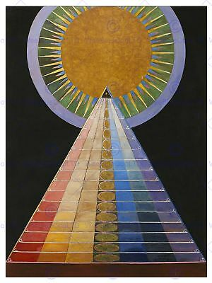 Painting Hilma Af Klint 1907 Altarpiece No 1 Group  Art Print Hp2354