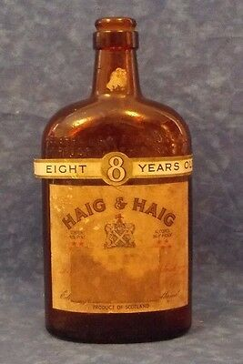 Vintage Haig & Haig Scotland Scotch Whiskey 4/5 Pint Empty Bottle! Stidham