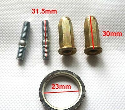 GY6 EXHAUST STUDS WITH NUTS AND GASKET FOR SCOOTERS WITH 50cc & 150cc MOTORS