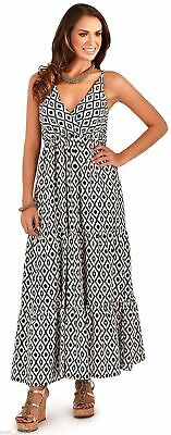 UK Dress New Ladies Womens Floral Strappy Long Maxi V Neck Sun Beach Summer