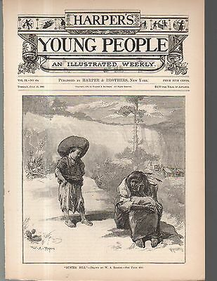 1888 Harper's Young People cover - Buster Bill and Nevada Indian