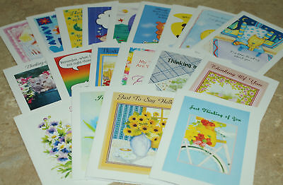 "Small Cards ""Thinking of You"" BLANK INSIDE~Assortment~~30 count"
