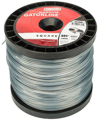 """Gatorline 095"""" Commercial Heavy-Duty 3 lb Spool Sq String Trimmer Line Weedeater"""