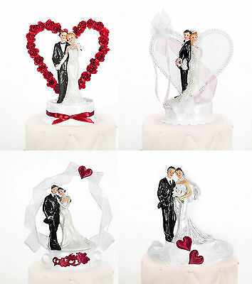 Wedding cake Figure Bride and groom Top Piece Decoration with heart