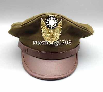 Wwii Ww2 China Military Kmt Air Force Type 46 Kuomingtang Field Hat Cap Size L