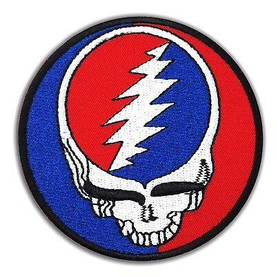 GRATEFUL DEAD Heavy Metal Rock Music Embroidered Iron On Patch Steal Your Face