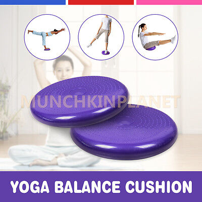 1PC of Stability Yoga Balance Cushion Wobble Pad Air Disc Ankle Knee Strength