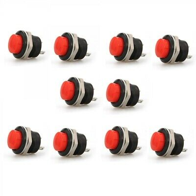 10x Red Momentary On/Off Push Button Temporary Reset Switch Car Boat Circuit