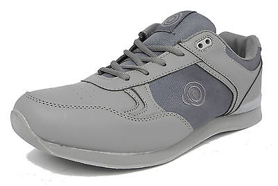 Mens Flat Sole Lightweight Lace Up  Bowls Shoes Bowling Trainers GREY Size 6-12