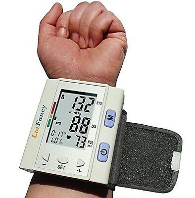 LotFancy FDA Approved Auto Digital Wrist Blood Pressure Monitor with Case30x4...